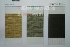 Рулонные шторы Зебра,ткань ЭТНИК цвет темно-бежевый, зеленый, темно-коричневый