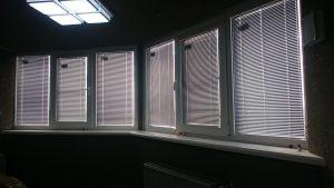 Горизонтальные жалюзи на окна в офисном помещении Краснодара