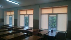 Рулонные жалюзи в школе г. Краснодар