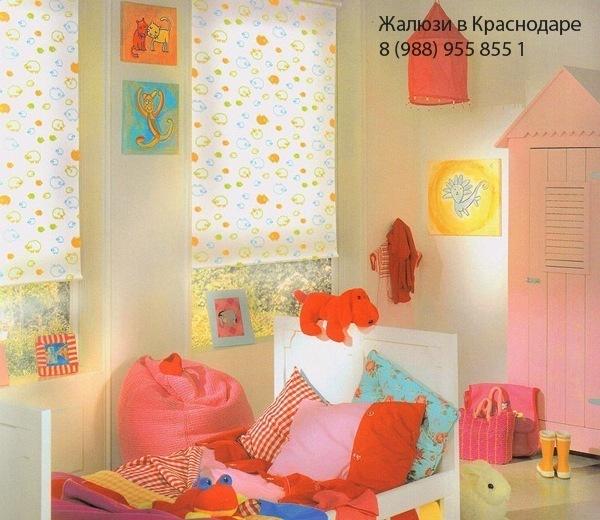 Рулонные шторы в детскую Краснодар