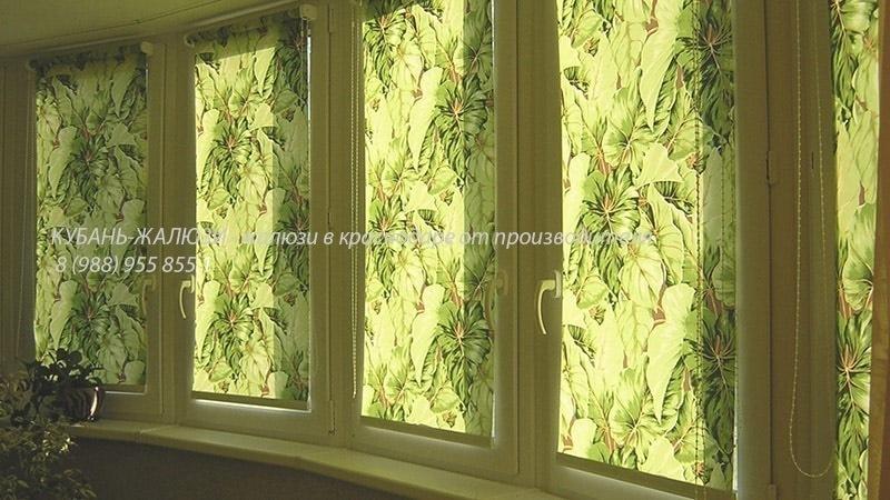 Рулонные шторы на балкон в Краснодаре
