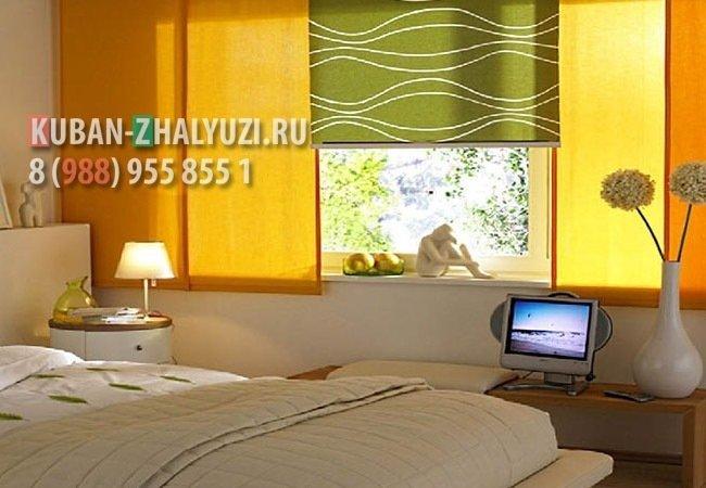 Рулонные шторы для спальни в Краснодаре