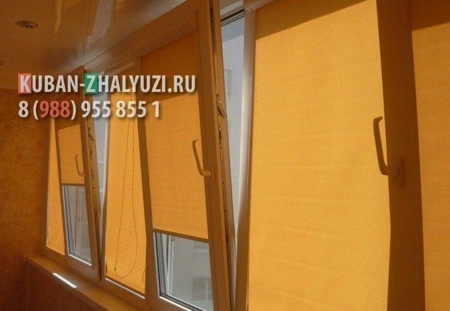 Рулонные шторы для балкона в Краснодаре