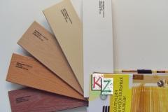 Горизонтальные деревянные жалюзи, материал пластик. Размер 50мм