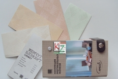 """Вертикальные жалюзи, тканевые название """"Жемчуг Блекаут"""" от белого до зеленого"""